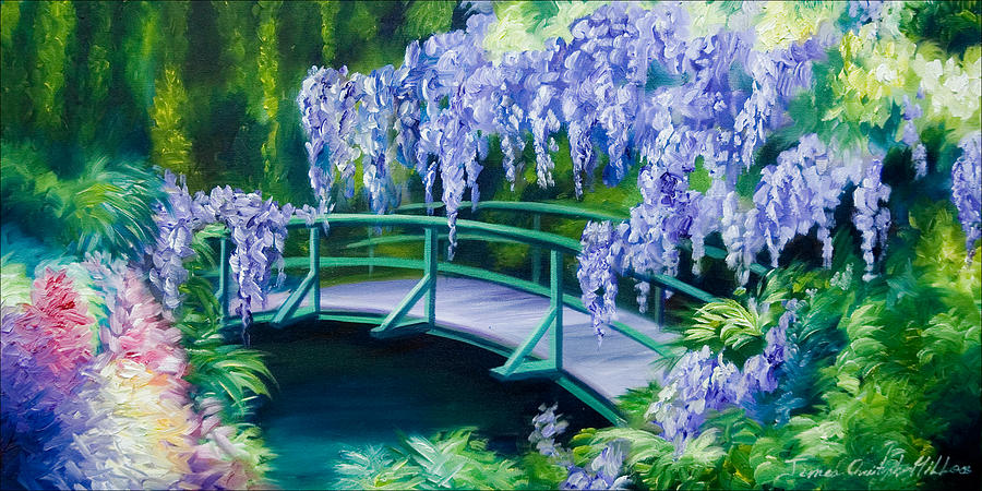 Bright Clouds Painting - Gardens Of Givernia II by James Christopher Hill