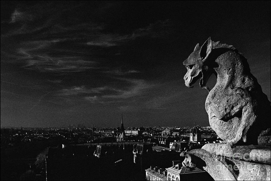 Notre Dame Photograph - Gargoyle of Notre Dame by Aldo Cervato