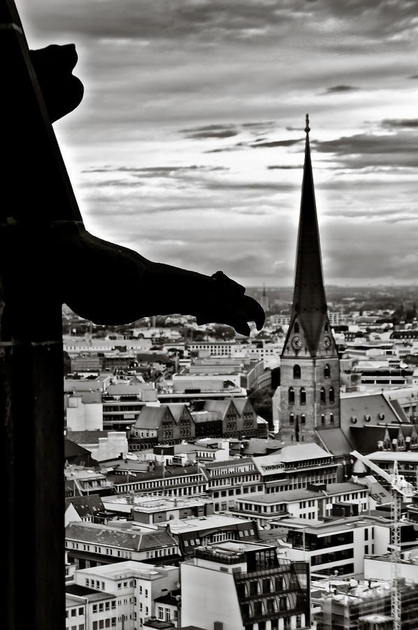 Hamburg Photograph - Gargoyle over Hamburg by Edward Myers