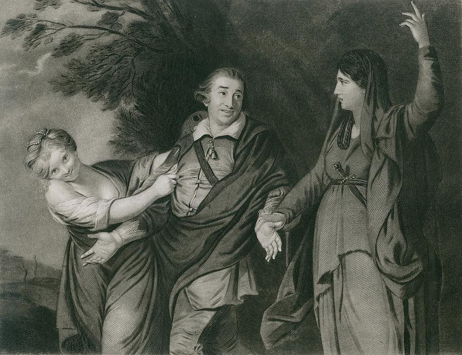 History Photograph - Garrick Between Tragedy And Comedy by Everett