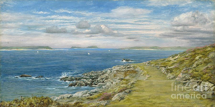 Seascape Painting - Garrison Walk by John Brett