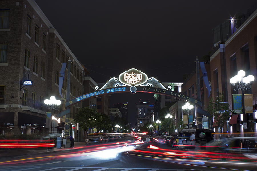 City Photograph - Gas Lamp Disctrict by Benjamin Street
