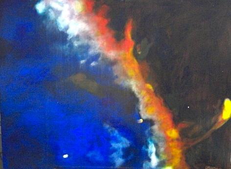 Hubble Space Telescope Painting - Gas Plume In The Cygnus Loop by Jim Ellis