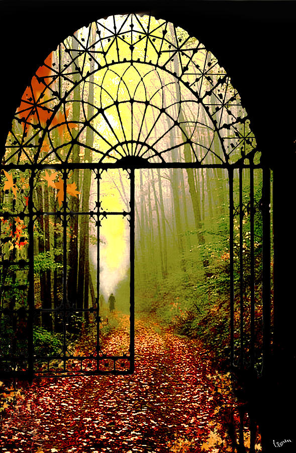 Leafs Digital Art - Gates Of Autumn by Igor Zenin