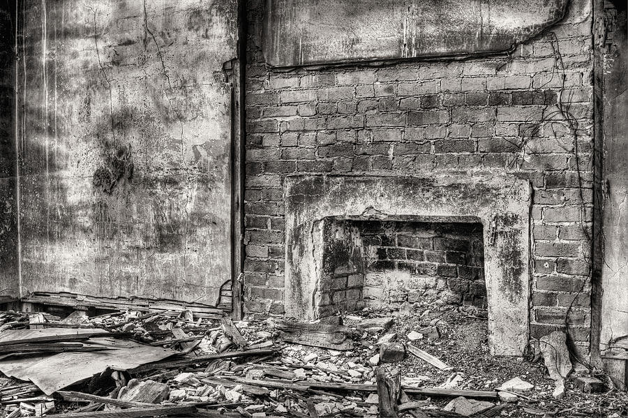 Fireplace Photograph - Gather Round Bw by JC Findley