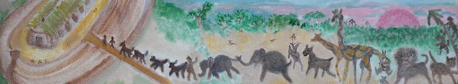 Noah Painting - Gathering Earth Specimens At Twilight by Jay Manne-Crusoe
