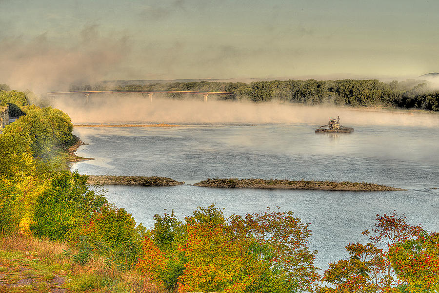 Mist Photograph - Gathering Wool by William Fields
