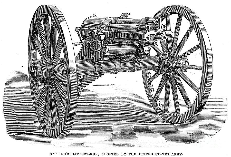1867 Photograph - Gatling Gun, 1867 by Granger