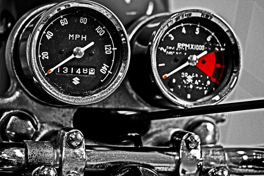 Suzuki Photograph - Gauging Speed by Tom Gari Gallery-Three-Photography