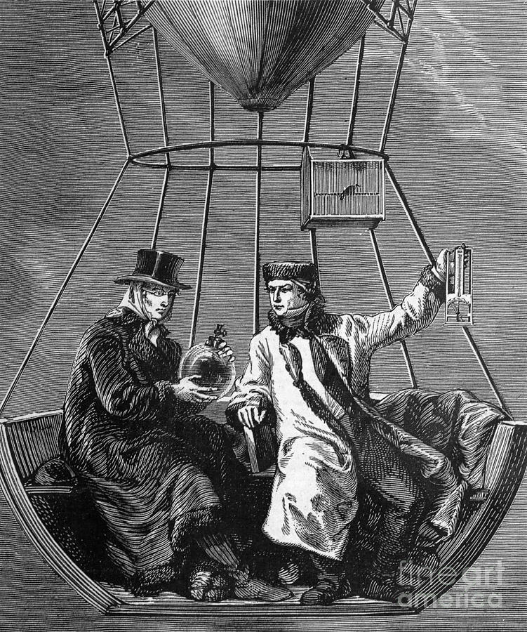 Science Photograph - Gay-lussac And Jean-baptiste Biot, 1804 by Science Source