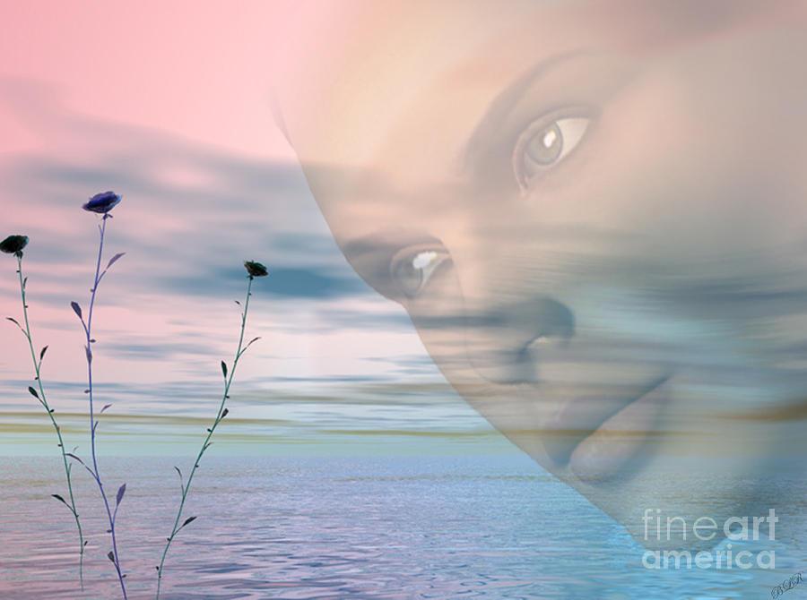 Digital Digital Art - Gaze by Tea Aira
