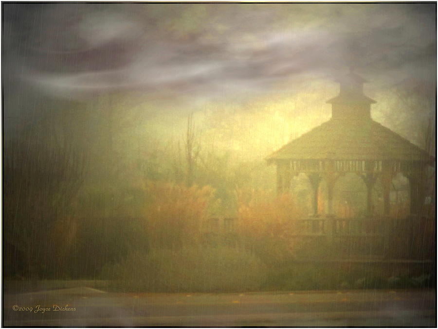 Gazebo Photograph - Gazebo Rain by Joyce Dickens