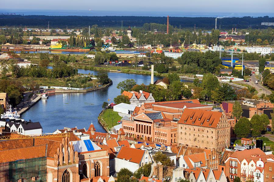 Aerial Photograph - Gdansk Cityscape by Artur Bogacki