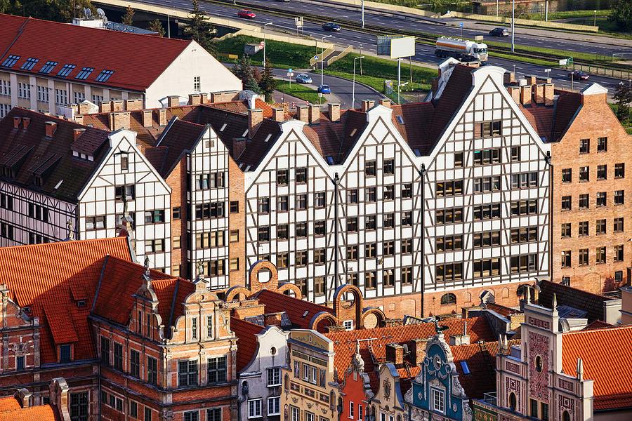 Gdansk Photograph - Gdansk Granaries by Artur Bogacki
