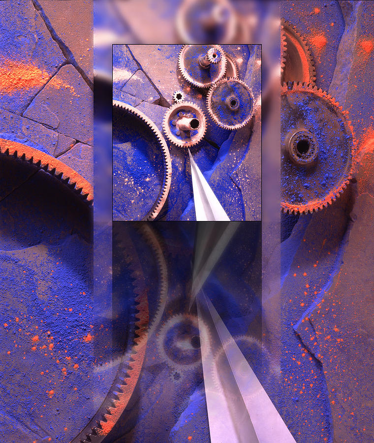 Gears Photograph - Gear Composition by Ron Schwager