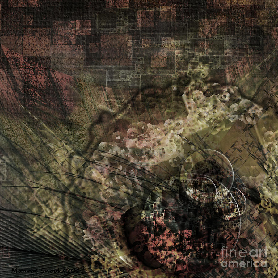 Abstraction Digital Art - Geared-up by Monroe Snook