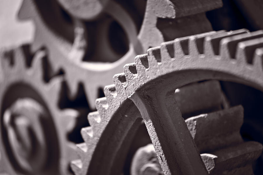 Gear Photograph - Gears Number 3 by Steve Gadomski