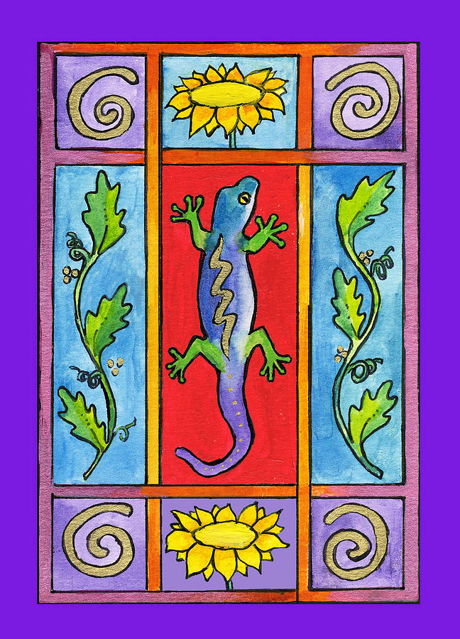 Whimsical Painting - Gecko by Pamela  Corwin