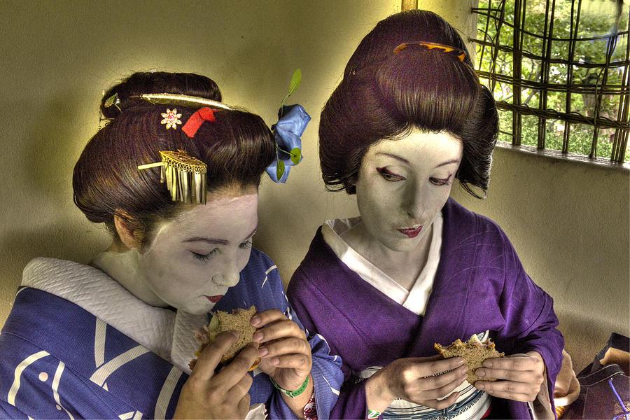 Geisha Photograph - Geisha Lunch by William Fields