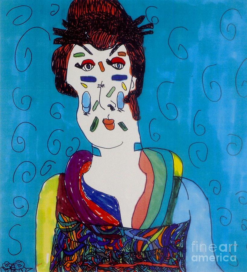 Geisha Drawing - Geisha by Stephanie Ward