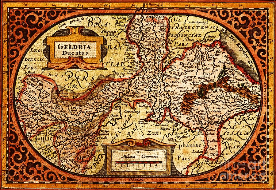 Reproduction Painting - Geldria Ducatus Map by Pg Reproductions