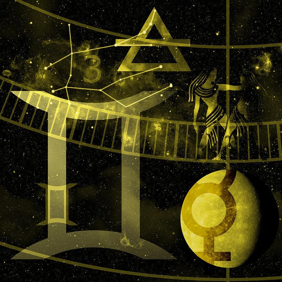 Horoscope Digital Art - Gemini by JP Rhea