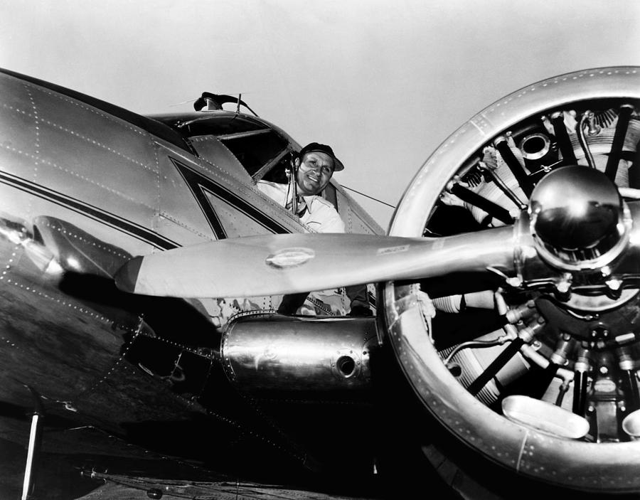 Airplane Photograph - Gene Autry In His Airplane, 1955 by Everett