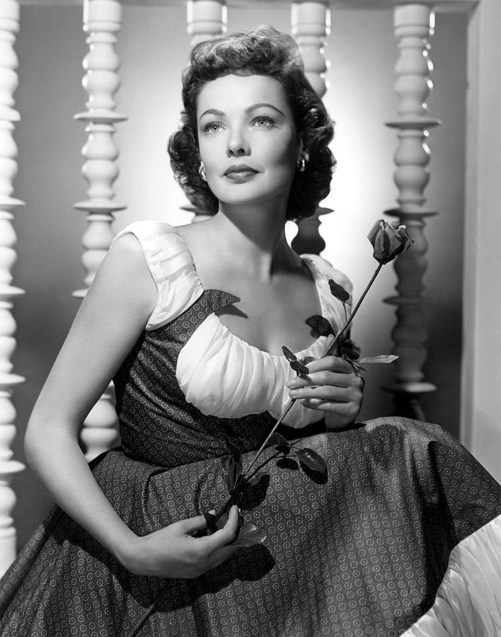 Holding Photograph - Gene Tierney Glamour Portrait by Everett