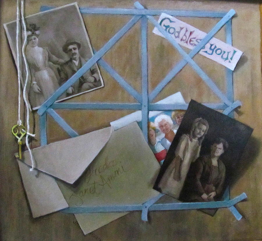 Family Painting - Geneaology by Janet McGrath