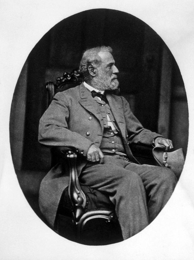 Civil War Photograph - General Robert E. Lee 1807-1870 by Everett