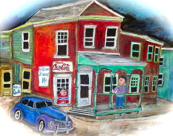 1940 Tudor Ford Painting - General Store by Michael Litvack