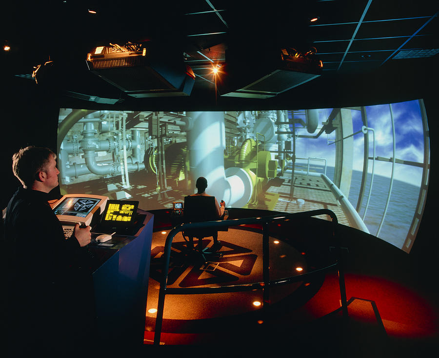 Oil Rig Photograph - General View Of Reality Centre Simulator (oil Rig) by David Parker
