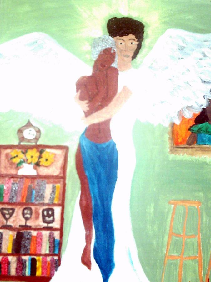 Angel Painting - Genesis 6 1 by Violette L Meier