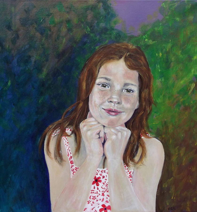 Portrait Painting - Genevieve  by Peter Edward Green