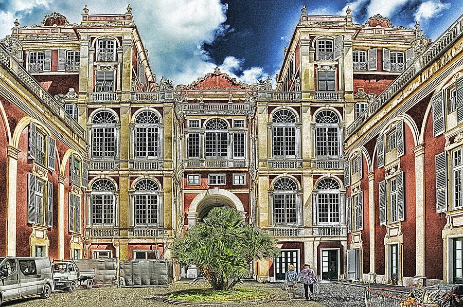 Palazzo Reale Mixed Media - Genova Palazzo Reale - Royal Palace Of Palazzo Dei Rolli by Enrico Pelos