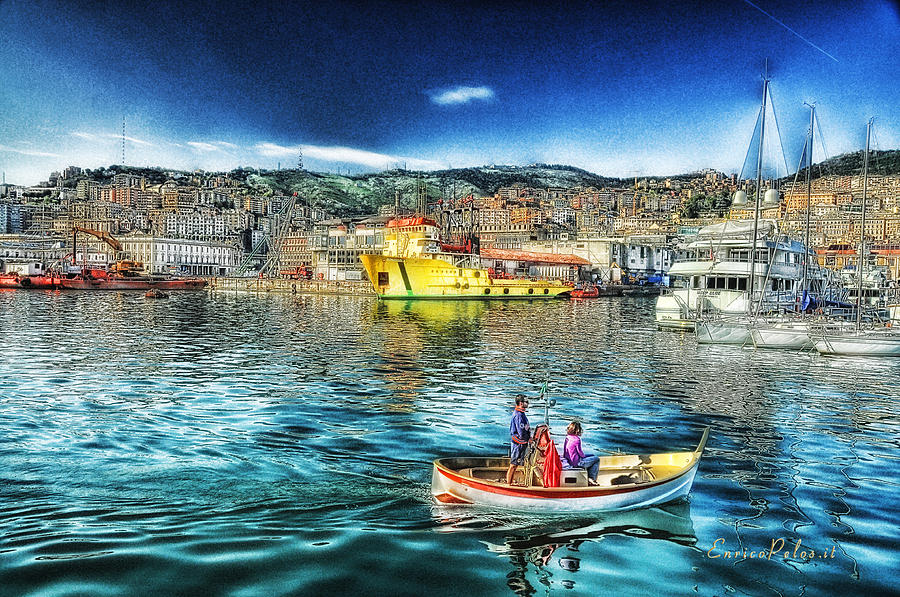 Porto Photograph - Genova Port Ships And Boats by Enrico Pelos