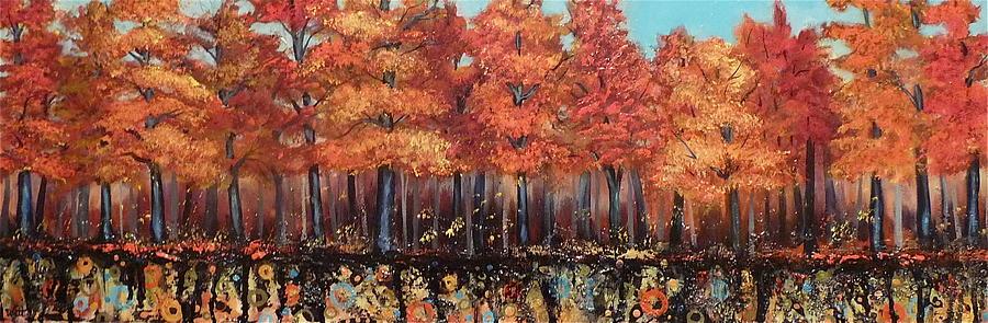 Autumn Landscape Painting - Gentle Autumn Breeze by Tammy Watt