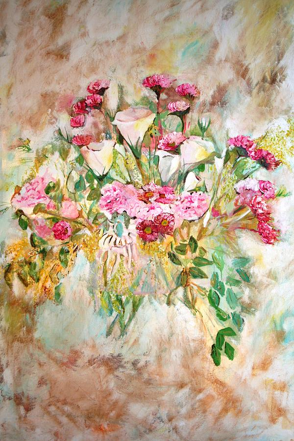 Flowers Painting - Gentle by Ofra Moran