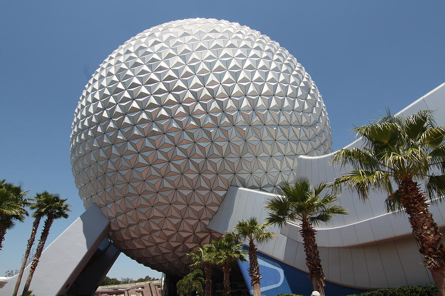 Geodesic Dome At Epcot Photograph By Carl Purcell