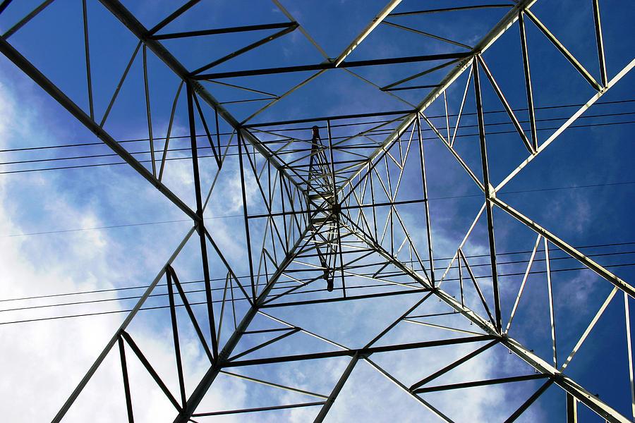 Electric Photograph - Geometry by Nina Fosdick