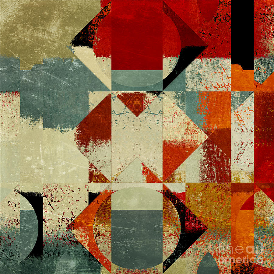 Abstract Digital Art - Geomix 04 - 39c3at227a by Variance Collections