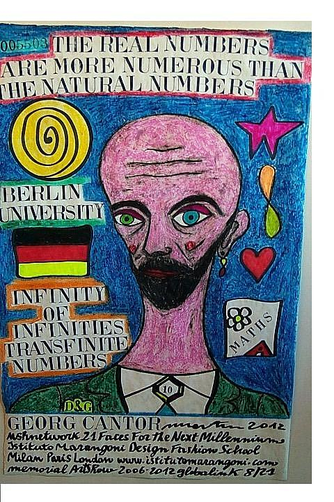 Berlin University Pastel - Georg Cantor by Francesco Martin
