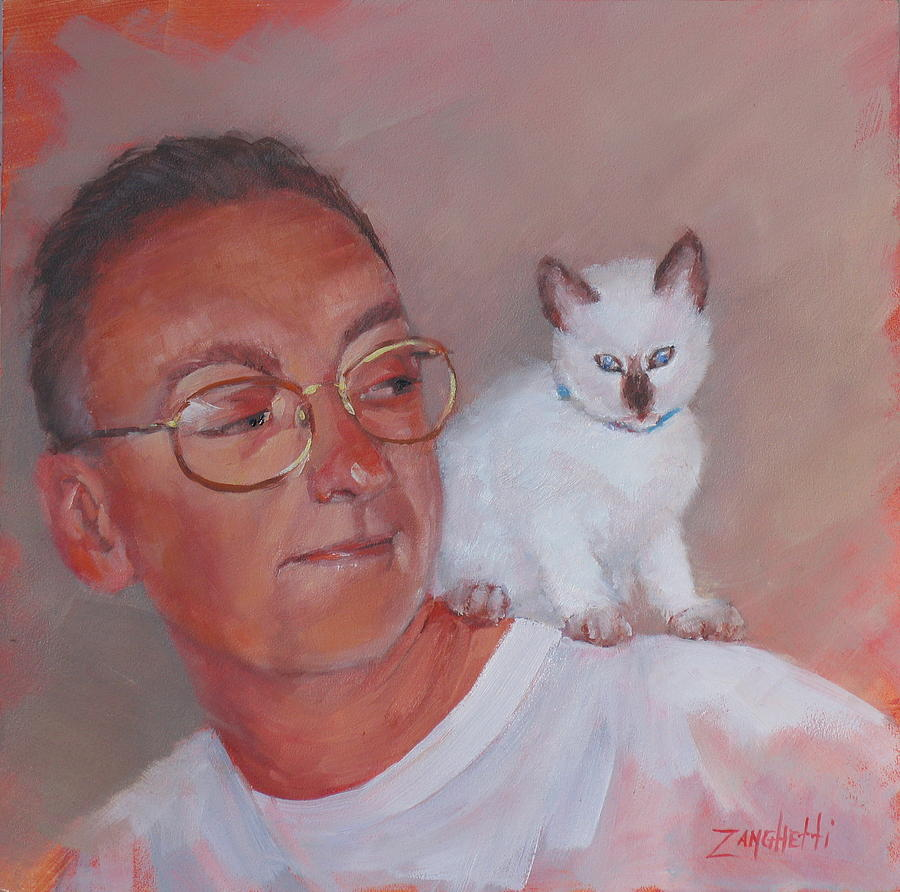 Portrait Painting - George And Doc by Laura Lee Zanghetti