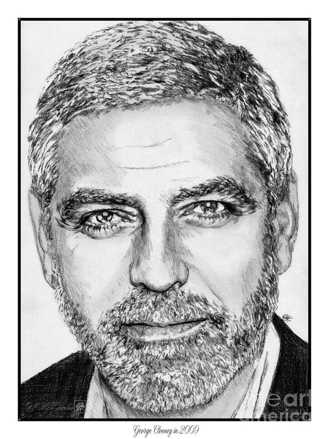 George Clooney Drawing - George Clooney In 2009 by J McCombie