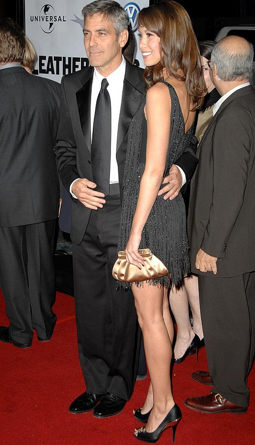 Premiere Photograph - George Clooney, Sarah Larson by Everett