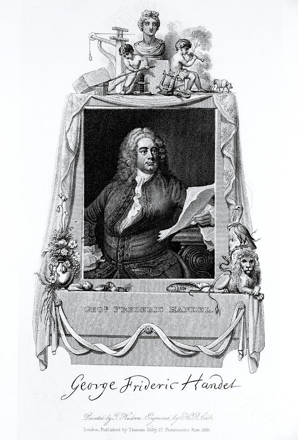 History Photograph - George Frideric Handel, German Baroque by Omikron