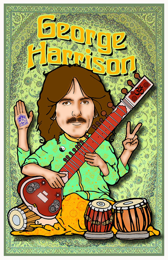 John Lennon Digital Art - George Harrison by John Goldacker