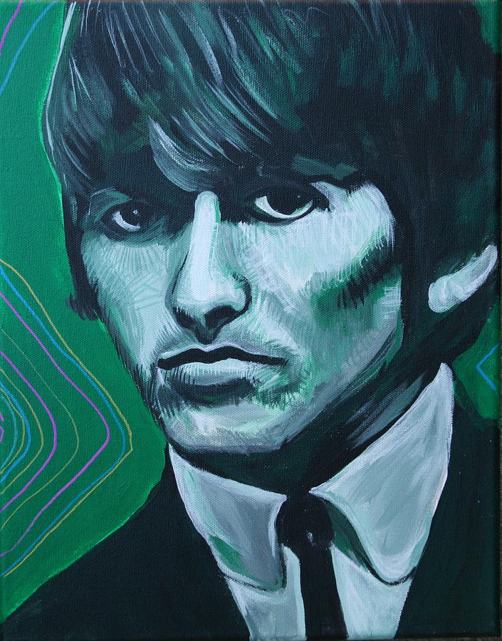 Beatles Painting - George Harrison by Kate Fortin