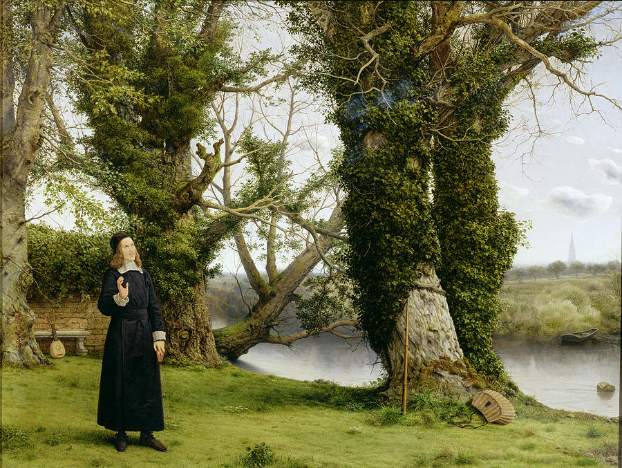 Landscape Painting - George Herbert At Bemerton by William Dyce