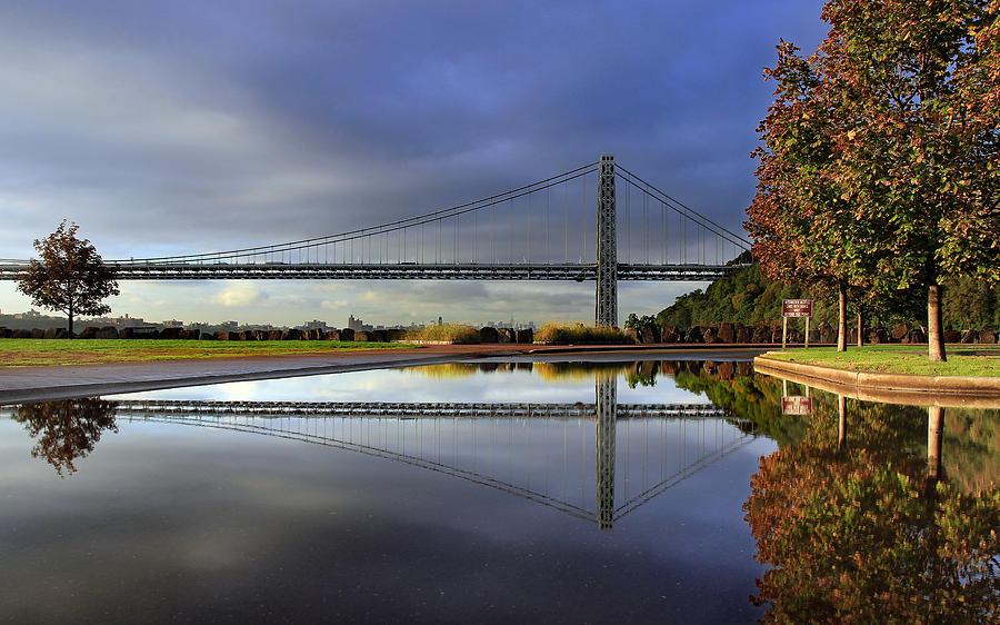 George Washington Bridge Photograph - George Washington Bridge Reflections by Dave Sribnik